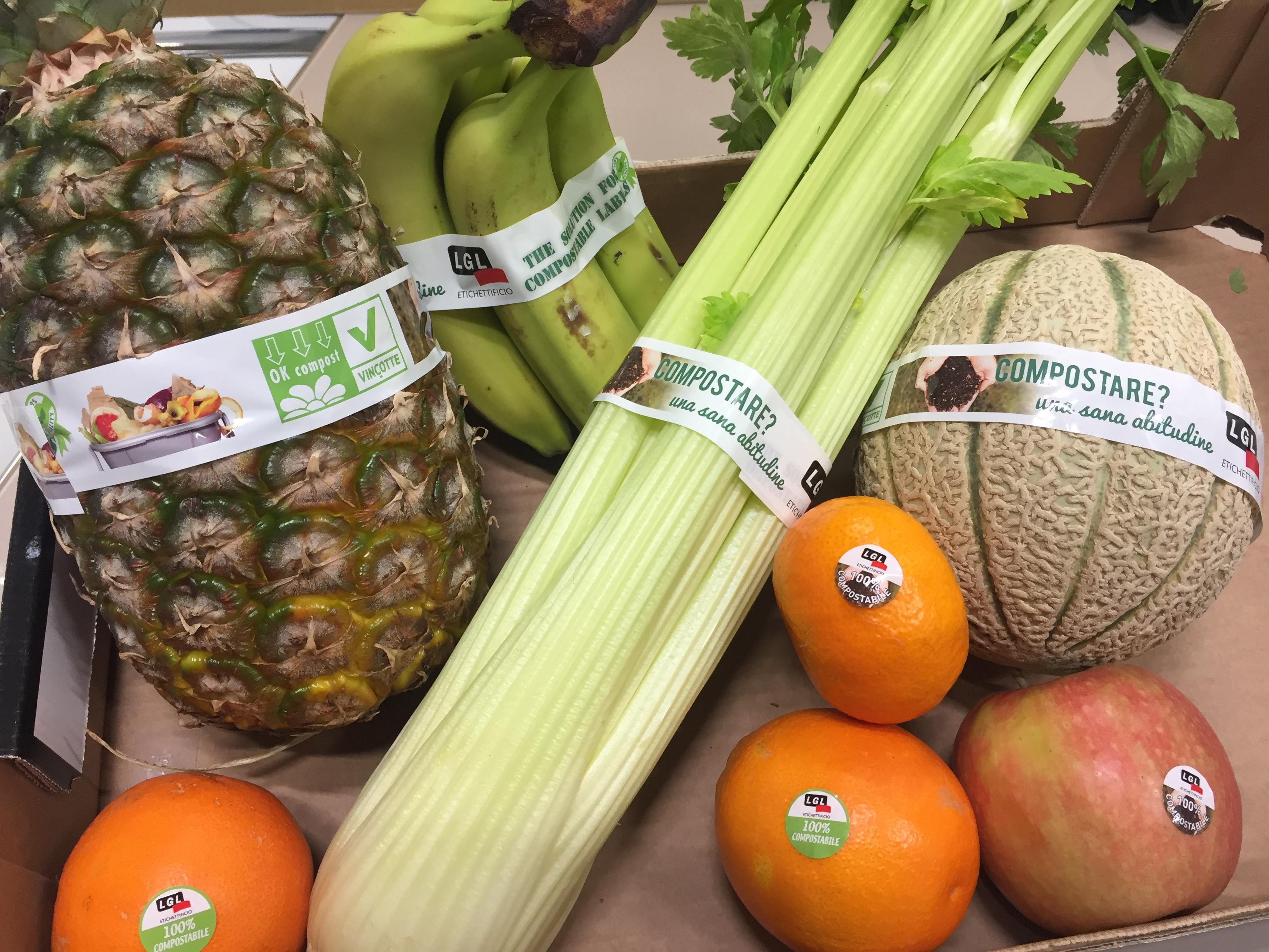 Etichette e nastri biodegradabili e compostabili